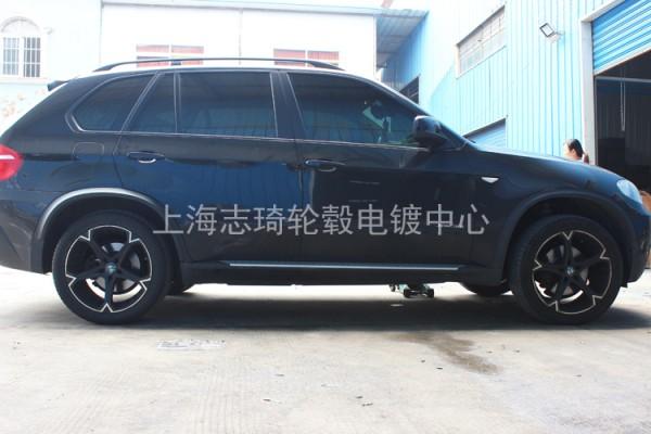 宝马x5改装圈升级原装电镀轮毂_志琦轮毂电镀