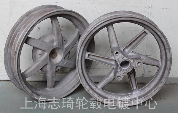摩托车轮毂改电镀古铜色_志琦轮毂电镀