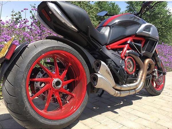 摩托车轮毂改电镀_志琦轮毂电镀