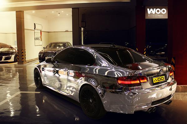 宝马M3车身电镀银汽车轮毂_志琦轮毂电镀