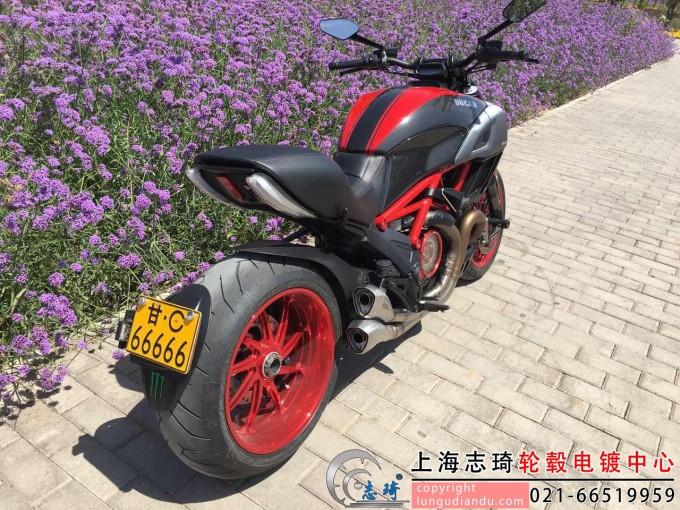 摩托车轮毂改红电镀_志琦轮毂电镀