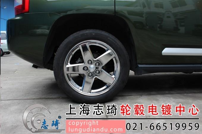 jeep墨绿色车身配白电镀轮毂_志琦轮毂电镀