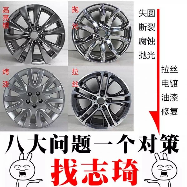 汽车轮毂修复到底是电镀好还是喷漆好_志琦轮毂电镀