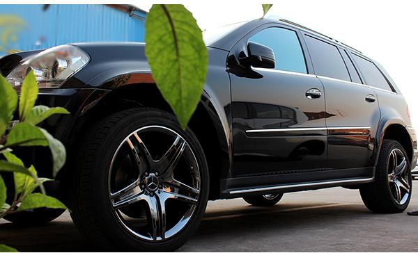 奔驰gl450轮毂改电镀钨钢黑 霸气加狂野的既视感瞬升