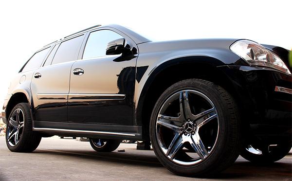 奔驰gl450轮毂改电镀钨钢黑 霸气加狂野的既视感瞬升_志琦轮毂电镀