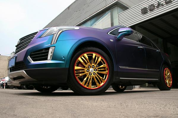 想做凯迪拉克原车轮毂电镀改色看过来_志琦轮毂电镀